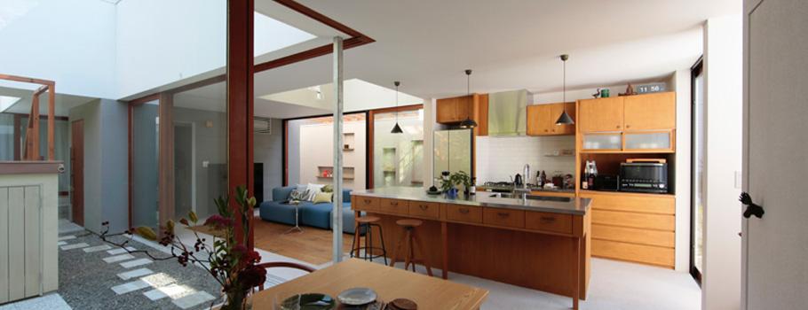 Osamu Nishidau0027s Open Kitchen Design (design: Osamu Nishida + Yuko Kaminaga,  Photo: Koichi Torimura)